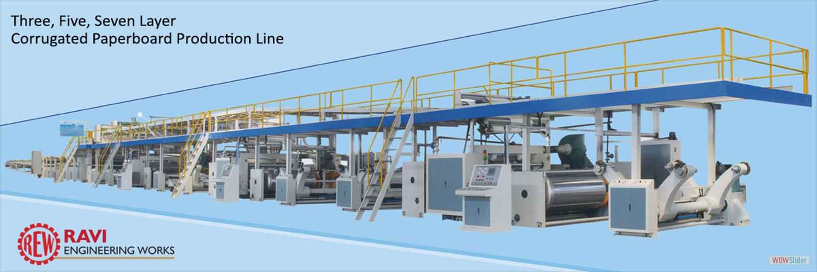 Three, Five, Seven Layer Corrugated Paperboard Production Line