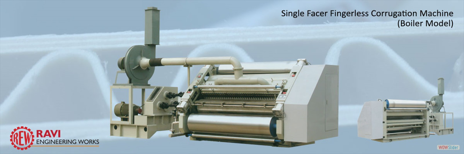 Single Facer Fingerless Corrugation Machine (Boiler Model)